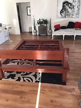 Solid wood queen size bed frame and mattress Baldivis Rockingham Area Preview