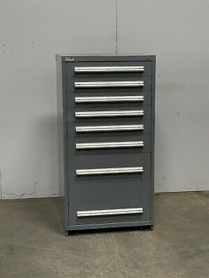 Used Stanley Vidmar 8 Drawer Cabinet Industrial Tool Parts Storage 2413