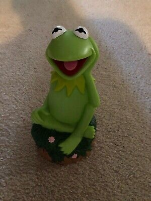 """Jim Henson's The Muppets 9"""" Vinyl Kermit The Frog Coin Bank"""