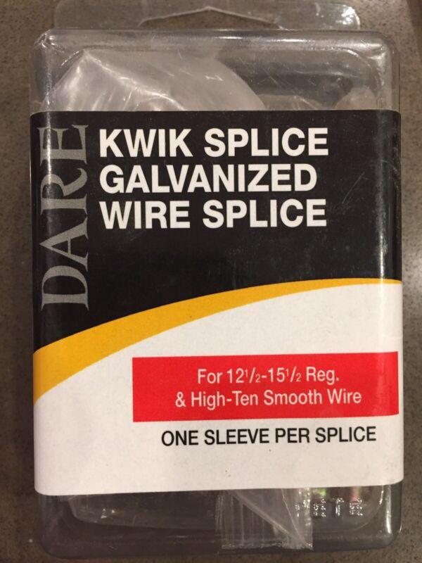 (50 PACK) DARE Kwik Splice Galvanized 12 1/2 - 15 1/2 Reg High Tensile Wire 3073