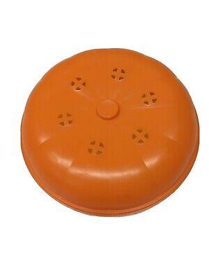 Vintage McDonalds Halloween Pumpkin Trick or Treat Pail Bucket LID ONLY ORANGE