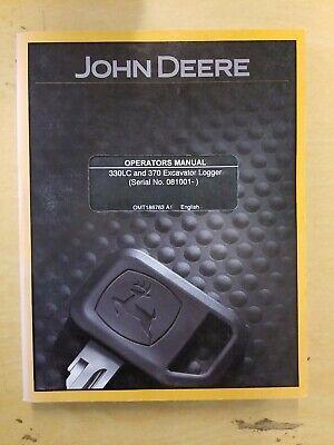 John Deere 330lc And 370 Excavator Logger Operators Manual
