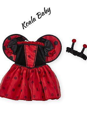 Koala LadyBug Costume Tutu Dress And Headband Halloween Costume Baby Girls NWT
