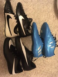 Various Soccer cleats Nike Adidas Messi