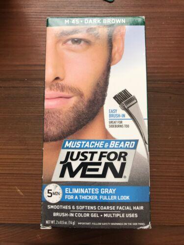JUST FOR MEN Color Gel Mustache - Beard M-45 Dark Brown 1 Each - $19.80