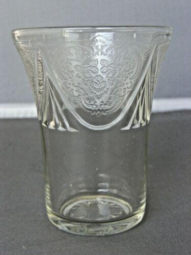 "Juice Tumbler-Royal Lace Pattern-3 1/2""/5 Oz-Clear Hazel Atlas Depression Glass-"