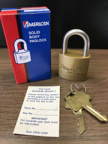Vintage American Lock Padlock, Model # 105, Keyed Different (KD), NOS