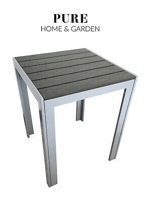 Gartentisch Alu 150 x 90 cm wetterfest Gartenmöbel Aluminium Fire si Balkontisch