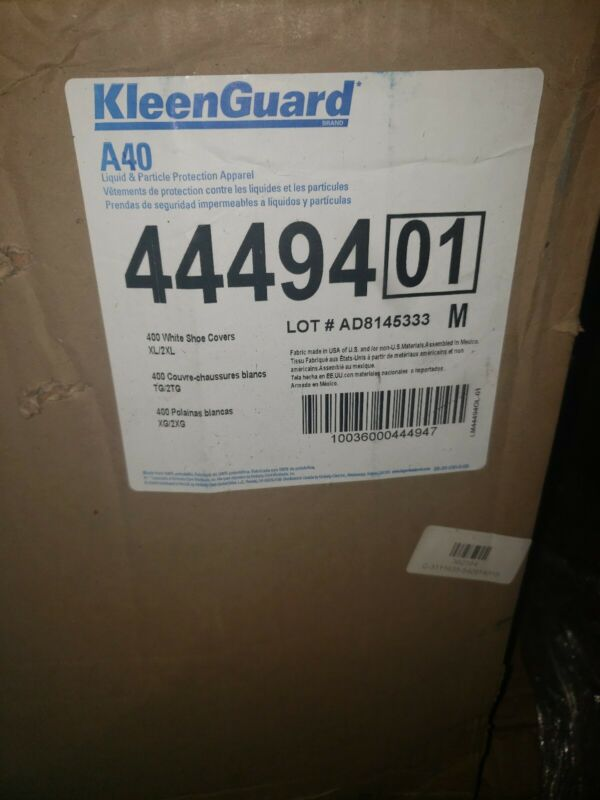 Kleenguard Shoe Cover (44494) XL/2XL Disposable Shoe Covers, White, 400/CASE