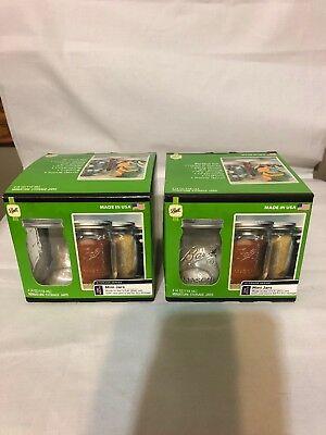 8 Ball Jars Mini 4 Oz Clear With Lids In Box Storage Teachers Crafts (Teacher Candy Jar)