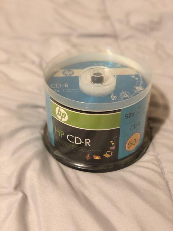 Hp Logo Cd-r 52x 50 Pack Blank Recordable Media Disc 700 Mb/ 80 Min