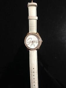 Guess designer white genuine leather watch Wakeley Fairfield Area Preview