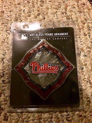 - Philadelphia Phillies Art Glass Frame Ornament NWT