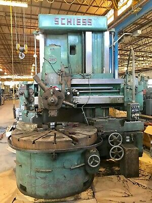 63 Table Schiess Vertical Turret Lathe Ke160 71 Swing 4 Jaw Chuck