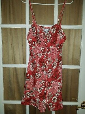 Abercrombie & Fitch floral Button Down Summer Dress Size L