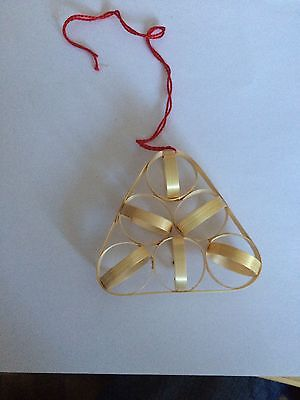 Weihnachtsartikel - Christbaumschmuck - Deko - handgefertigter Strohanhänger