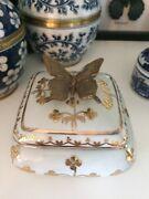 Botanical Brass Butterfly Porcelain Trinket Box  Kingsholme Gold Coast North Preview