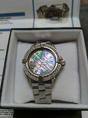 *** Breitling Superocean 6 carat Diamond Black Pearl Watch with Certificate ***