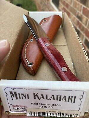Bark River Mini Kalahari Red Camel Bone A2 Steel Knife
