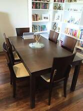 BJURSTA Extendable Dining table, brown-black and 6matching chairs Waterloo Inner Sydney Preview