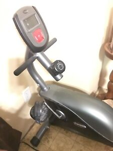 Personal exercise bike trainer with backrest