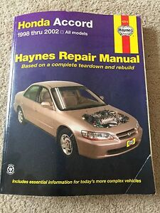 Haynes Manual - Honda Accord 1998-2002