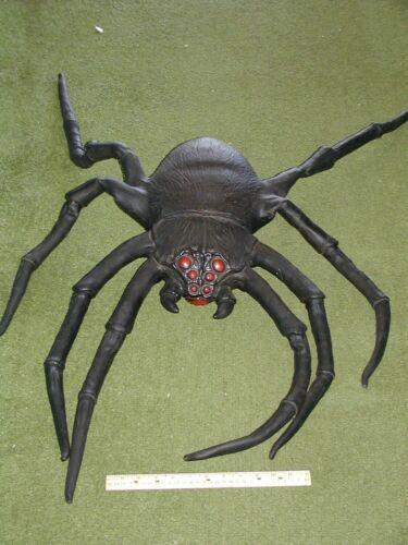 Vintage Giant Spider Vinyl Rubber Halloween Plush Figure 32 inch Circa 1980s