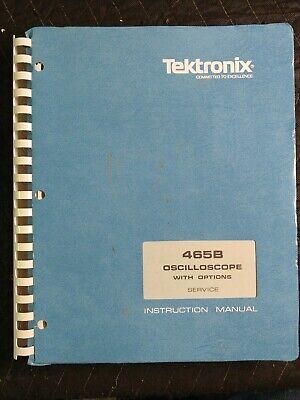 Tektronix 465b Oscilloscope Service Manual With Options