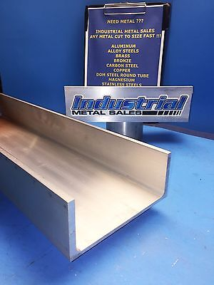 6061 T6 Aluminum Association Channel 6 X .210 X 3-14 X 12-long--6 Channel