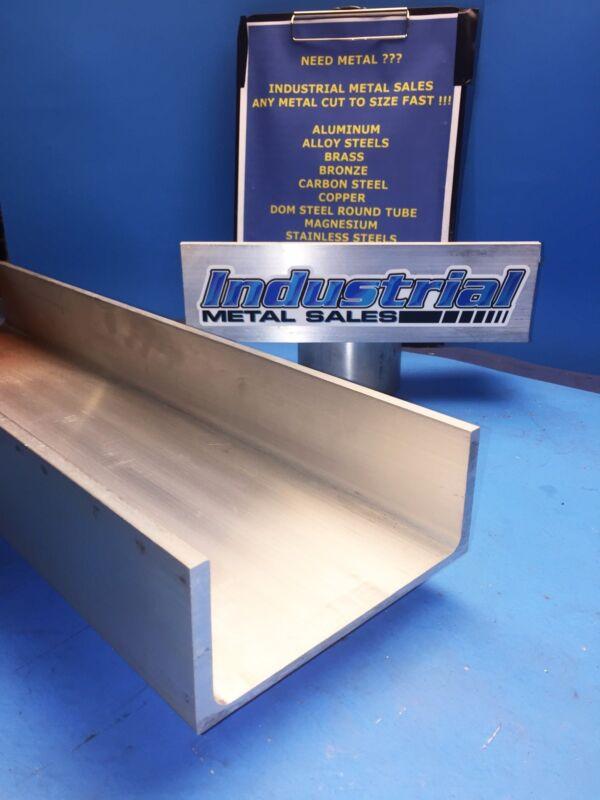 """6061 T6 Aluminum Association Channel 6"""" x .210"""" x 3-1/4"""" x 12""""-Long-->6"""" Channel"""