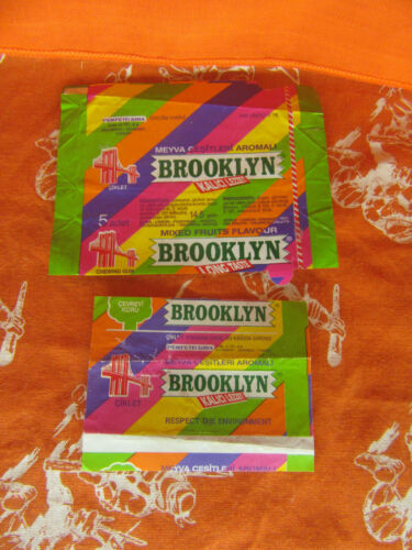 BROOKLYN Bubble Gum Italy Ukraine Wrapper Candy Rare
