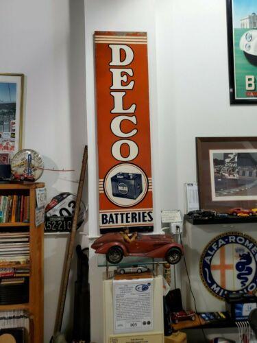 Vintage DELCO Batteries Sign