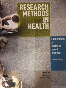 Research Methods in Health (2nd ed) by Liamputtong Seaford Frankston Area Preview