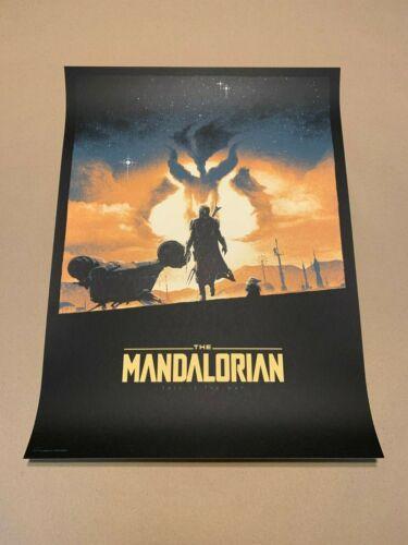 The Mandalorian The Way Poster Print by Matt Ferguson #/225 BNG Bottleneck