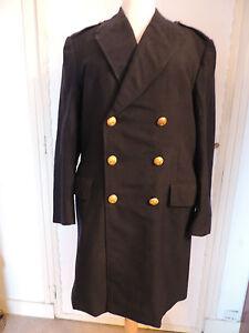 manteau laine caban bleu marine uniforme aviation homme t m 42 44 jacket ebay. Black Bedroom Furniture Sets. Home Design Ideas