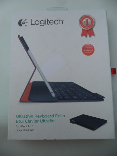 Logitech Ultrathin Portfolio Keyboard Case for Apple® iPad® Air Midnight Navy 920-005985