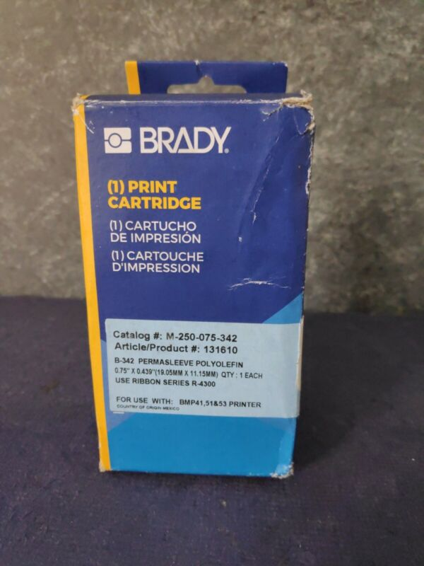 Brady M-250-075-342 Wire Marking Sleeves - Black on White - Ships Free