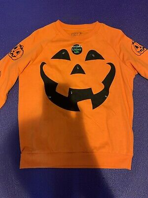 Women's HALLOWEEN Light Up PUMPKIN Sweater Costume Size Small new without tags