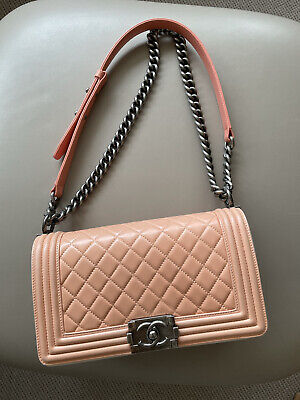 Chanel Boy Bag In Salmon Pink
