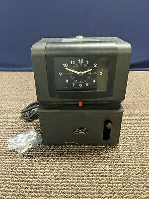 Lathem Punch In Out Clock Card Recorder Key Time Tested Working Mechanical
