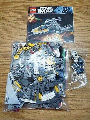 Lego Star Wars Set 75172 Y-Wing Starfighter Complete EUC w/ Manual Minifigures!