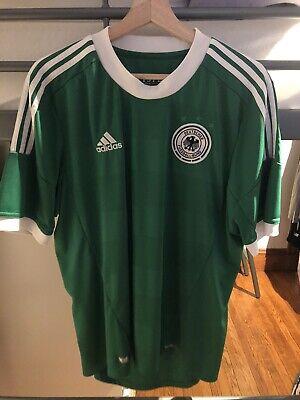 Germany Deutschland 2012 2013 Euro Green Adidas Away Shirt Jersey Trikot Size L image