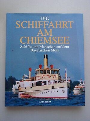 DIe Schiffahrt Schifffahrt am Chiemsee Schiffe Menschen Bayerischen Meer