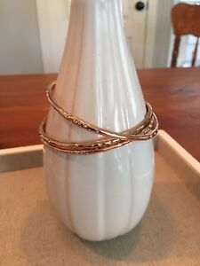 Stella and Dot rose gold Rhea bangles