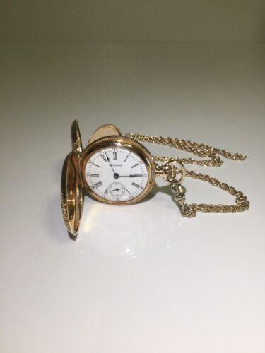Victorian Trade Card J F Bartlett Watches Clocks Jewelry Clinton Massachusetts