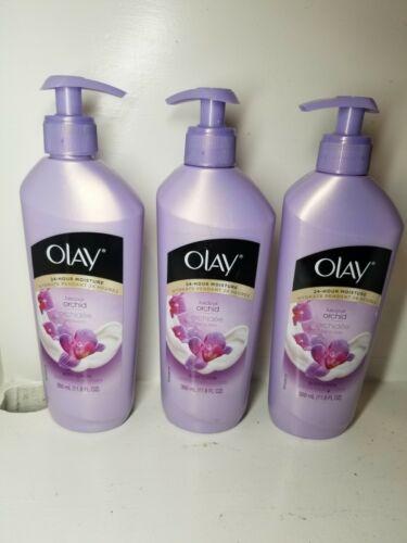 3 New Olay 24-Hour Moisture Luscious Orchid Moisturizing Body Lotion 11.8 Fl Oz  - $129.00