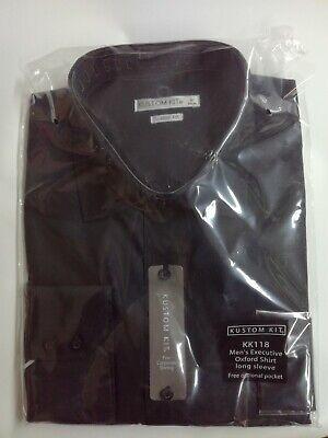 Black Formal Shirt Executive Oxford Long Sleeve High Quality KK118 Work Shirt - Executive Long Sleeve Oxford Shirt