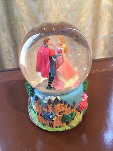 Musical Disney Sleeping Beauty Snow Globe Collectible