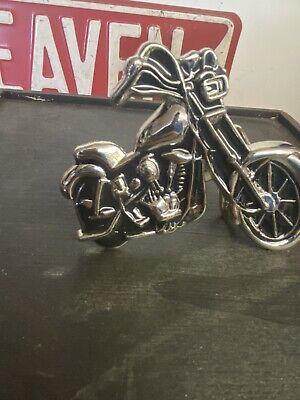 Harley Panhead Knucklehead Indian Motorcycle Chrome Chopper Belt Buckle