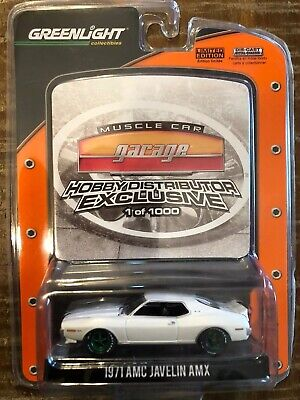 Greenlight Hobby Exclusive Green Machine 1971 AMC Javelin Muscle Car Garage Rare